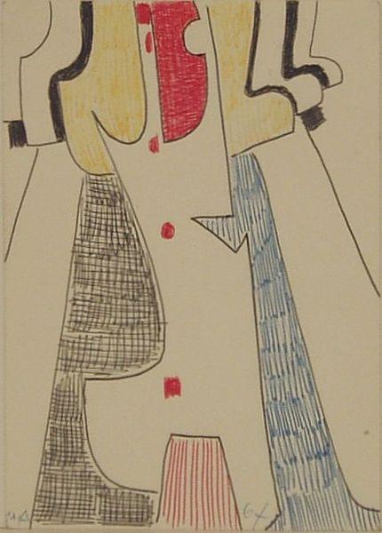 Bild Nr. 6795 — Max Ackermann (1887-1975): Ohne Titel (1967)