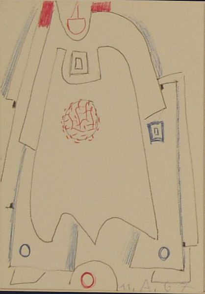 Bild Nr. 6796 — Max Ackermann (1887-1975): Ohne Titel (1967)