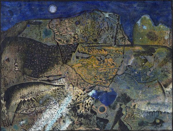 Bild Nr. 7363 — Günter Ullmann (*1946): Landschaft (1991)
